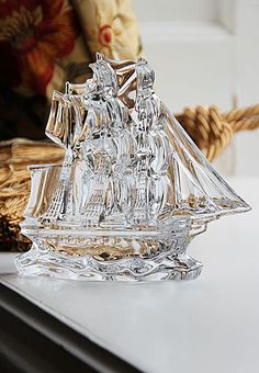 Waterford crystal tall ship