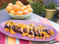 Grilled Pork Tenderloin and Apricot-Serrano Salsa recipe from Marcela Valladolid via Food Network