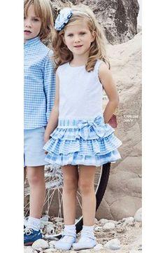 Vestido de niña Miranda sin mangas color blanco