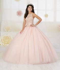 0cd51868625 Beaded Glitter Quinceanera Dress by Fiesta Gowns 56358-House of Wu Fiesta  Gowns-ABC