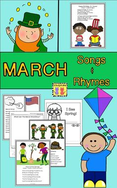 Sing your way through March with these fun songs and rhymes! TpT$