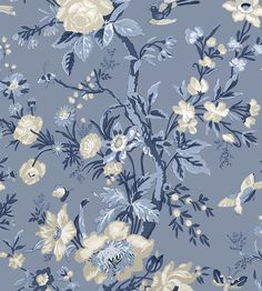 Offering contemporary and classic styles, buy Thibaut wallpaper online today at Select Wallpaper. Browse luxury wallpaper designs for stylish patterns and retro designs. Blue Marble Wallpaper, Blue Floral Wallpaper, Trendy Wallpaper, Blue Wallpapers, Flower Wallpaper, Of Wallpaper, Wallpaper Backgrounds, Wallpapers For Laptop, Fabric Wallpaper