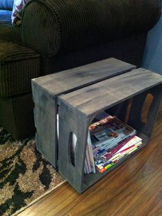 Good for the printer and it's extra paper.  Large replica apple crate with handles rustic by DesignedForUse, $29.00