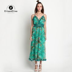 c6f80c83ef2f Sexy Jumpsuits 2017 Spring Fashion Green Lace Jumpsuit For Women Luxury  Designer Sexy Jumpsuits
