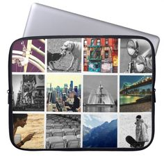 Upload-Your-Own-Photo Collage Laptop Sleeve #laptop #sleeves