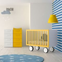 Juvenil : Lits & Berceaux par Mueblalia Plus Kids Bed Design, Baby Room Design, Nursery Design, Baby Room Set, Baby Boy Rooms, Baby Room Decor, Kids Rooms, Unique Baby Cribs, Kindergarten Interior