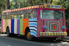 American artist Magda Sayed is known to be the creator of the yarn bombing movement.