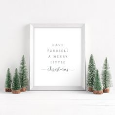 Have Yourself A Merry Little Christmas Printable Neutral | Etsy