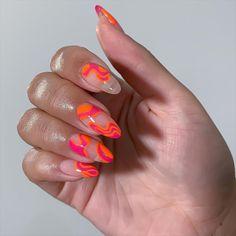 Summer Acrylic Nails, Cute Acrylic Nails, Acrylic Nail Designs, Summer Nails, Gel Nails, Spring Nails, Nail Design Stiletto, Nail Design Glitter, Colorful Nail