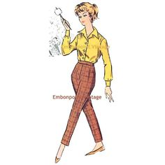 Plus Size or any size Vintage 1950s Pants by EmbonpointVintage