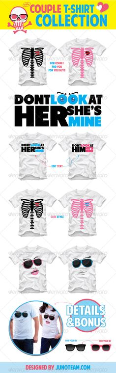 Couple T-Shirt Collection - GraphicRiver Item for Sale
