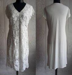 50% Off SALE Woman's Ivory Lace Dress Casual Boho Style