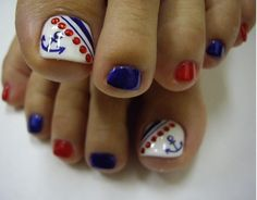 Cute Easy Toenail Designs hearts | Image was hearted from www.bestnailsart.com