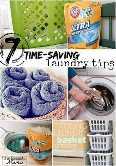 7 time-saving laundry tips for moms! I can't wait to try the towel trick! #sp