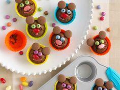 Have fun baking these mini chocolate orange mice muffins. Chocolate Buttons, Chocolate Orange, Chocolate Chocolate, Mini Muffins, Muffin Recipes, Baby Food Recipes, Free Recipes, Party Food Menu, Picnic Birthday