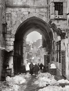 Snow In Jerusalem [1920]الثّلج في القدس
