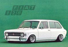 FIAT 128 Small, low, fast, wagon
