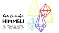 Himmeli 3 ways - Tutorial for creating geometric hanging decorations usi...