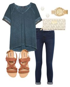 Sorry for not posting all day, I just got off work by rob-17 on Polyvore featuring polyvore fashion style Violeta by Mango Frame Denim MICHAEL Michael Kors Michael Kors Kendra Scott clothing