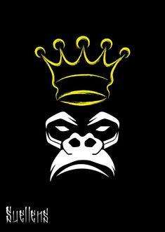 king kong with a crown King Kong, Zwilling Tattoo, Images Alphabet, Creation Art, Desenho Tattoo, Graffiti Art, Cartoon Art, Vector Art, Monkey