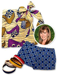 NY designer Nicole Miller teamed up with Indego Africa. This summer, the collaborators added brightly-hued sarongs and colorful printed shorts. all can be found on nicolemiller.com, are printed on African fabric, and 15% of proceeds are donated to Indego Africa