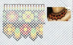 Beaded Earrings Native, Beaded Necklace Patterns, Crochet Necklace, Beading Tutorials, Beading Patterns, Necklace Tutorial, Bead Weaving, Perler Beads, Handicraft