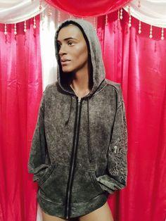 Jack Jones Sweat Shirt Herren ADVANCE L Hoodie Dragon washed black zipper  #JackJones #Hoodie