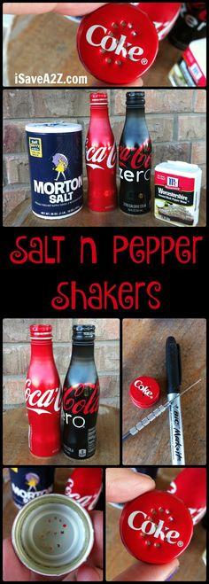 Homemade Coca-Cola Salt n Pepper Shakers - iSaveA2Z.com