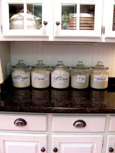 For my kitchen. I'll ad Sugar and Brown Sugar.