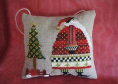 Santa with Tree by LittleRabbitMini on Etsy, £25.00