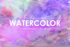 70% OFF 100 Watercolor Backgrounds 2 by ArtistMef on Creative Market