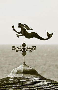 weathervane mermaid