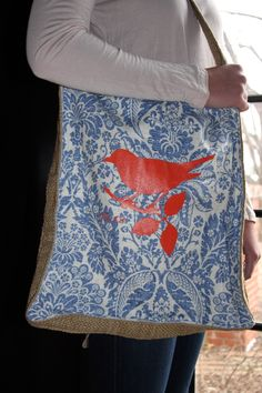 French Laundry Totes..new at www.allatiajane.com.   The birds are coming back for spring...be watching for them!  only $68!