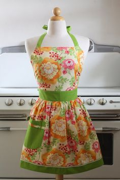 "I have purchased another one of her ""Betty"" plus size aprons before and loved it!  I am about a 2X and it fits beautifully!  :D"