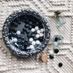 Loose parts for toddlers - gem, jars, and a tray. Great for fine motor control, spatial awareness, concepts like in and out, empty and full. Fine Motor, Empty, Jars, Toddlers, Gem, Concept, Children, Little Boys, Pots