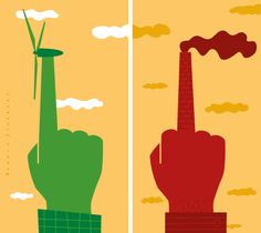 Ronald Slabbers Illustration: 'the Value of Sustainability'.