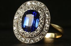antique engagement rings for vintage brides 1910 french rose cut <3 I want a sapphire ring. Not diamond