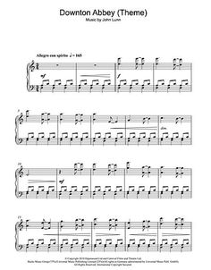 Downton Abbey sheetmusic download---This website has a lot of good printable music.