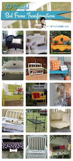 20 Beautiful Bed Frame Transformations | by 'The Interior Frugalista' blog!