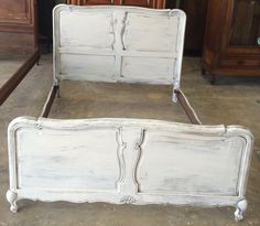 Check out this super cute full size bed can you see it in the prince or princess' room? Or the guest bedroom needs an upgrade right? LOL. SOLD!! for $275 https://www.pinterest.com/shabbychictexas/my-shabby-chic-beds/