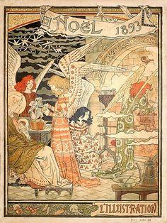 senses-working-overtime:  Christmas illustration by Eugene Grasset 1893