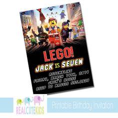 Printable Lego Movie Birthday Invitation, Personalized Lego Invite on Etsy, $8.00