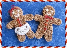 BellaCrochet: Little Gingerbread Boy and Girl; a free pattern for you