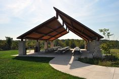 Recreation Picnicking Picnic Shelters is part of Architecture house - Architecture Design, Landscape Architecture, Steel Frame House, Roof Structure, Roof Design, Pergola Designs, Modern House Design, Gazebo, Backyard Pergola