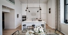 a NY Printing House features Caesarstone countertops in a traditional decor.