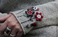 Купить Не грусти (светло-серый) - светло-серый, теплый свитер, зимняя одежда