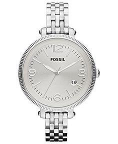 Fossil Watch, Women's Heather Stainless Steel Bracelet 42mm ES3129 - Women's Watches - Jewelry & Watches - Macy's