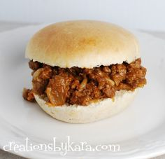 Creations by Kara: Recipe for Sloppy Joes made with Chicken Gumbo Soup !