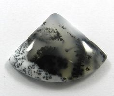 33.25CTS GENUINE NATURAL DENDRITIC OPAL 25X34MM FANCY SHAPE CABOCHON GEMSTONE