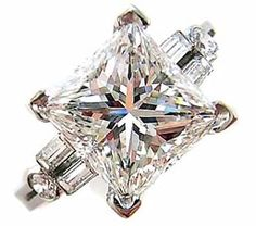 Princess cut diamond ring.... whow... it's great! #ring #diamond ring #ring #diamond